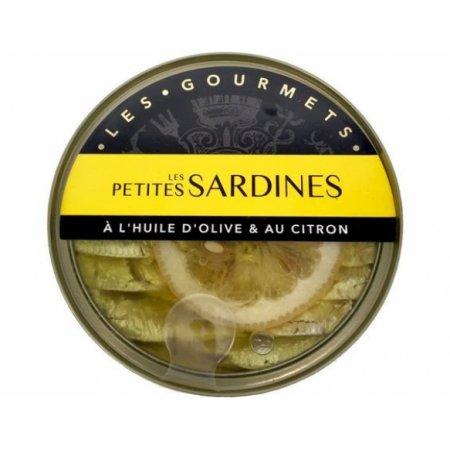 PETITES SARDINES A L'HUILE D'OLIVE ET AU CITRON