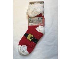 Chaussette moumoute Noël rouge