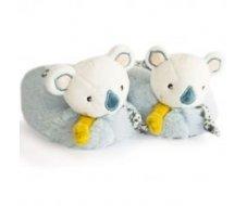 Chaussons avec hochet 0-6mois Yoka le Koala doudou et compagnie