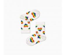 Kids Pride Smiling Heart Sock 4-6 ANS