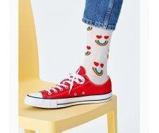 Happy Rainbow Sock