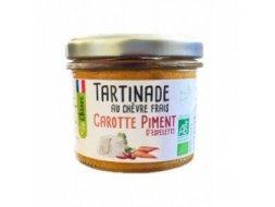 Tartinade au chèvre frais Carotte piment d'Espelette  Bio